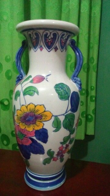 El jarrón de porcelana de China