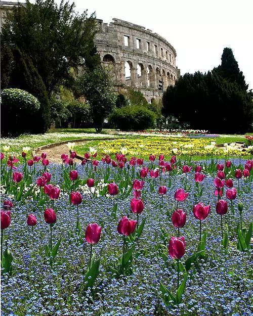 """stylishbeauty: """" Amphitheater Pula from the period of ancient Roman Empire """""""