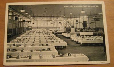 Vintage Mess Hall Chanute Field Rantoul Illinois Postcard