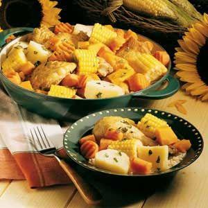 Cazuela Recipe: Chilean recipe with butternut squash.