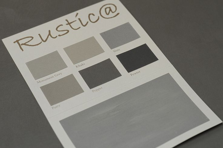 Colourcard Rustic@ paint. By Painting the Past.