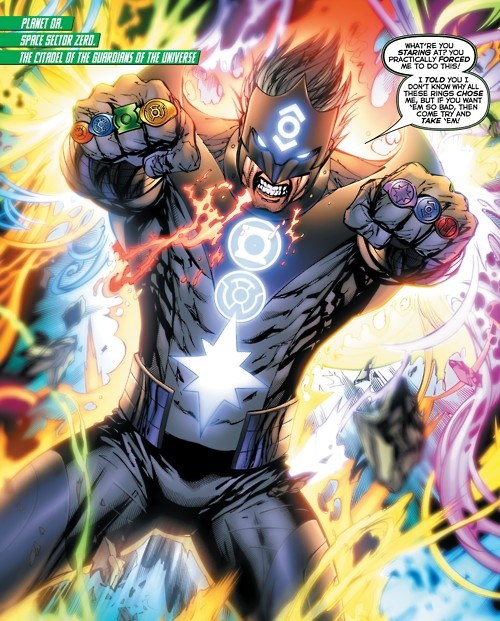 Green Lantern, Kyle Rayner uses all the spectrum of the lantern rings