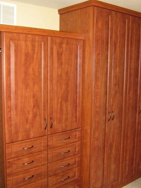 Wardrobe Cognac Finish California Closets | Twin Cities | California Closets