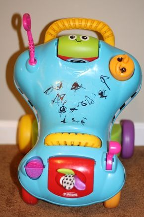 How to remove sharpie from toys.  So easy and works perfect!