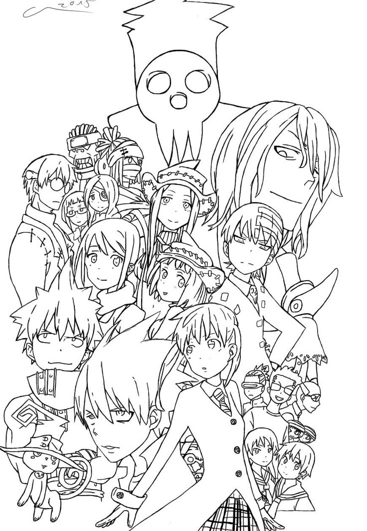 awesome soul eater coloring pages blair ensign examples