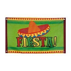 Mexican Fiesta Flag - 90cm