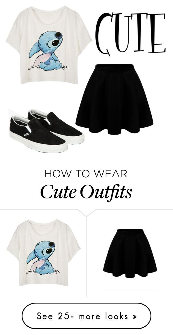 """""""random cute outfit xx"""" by emmanewbo5133 on Polyvore featuring Vans"""