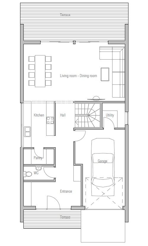 Small house plan to very narrow lot dreamhome pinterest Very small house plans