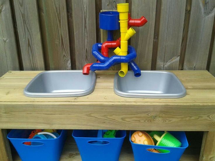17 best images about sensory play ideas on pinterest are for Diy sand and water table pvc