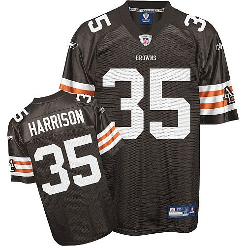 Reebok Cleveland Browns Jerome Harrison 35 Brown Authentic Jerseys Sale