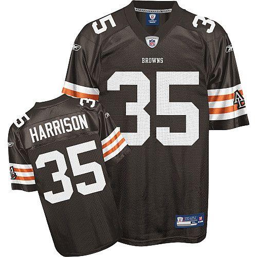Reebok Cleveland Browns Jerome Harrison 35 Brown Authentic Jerseys Sale
