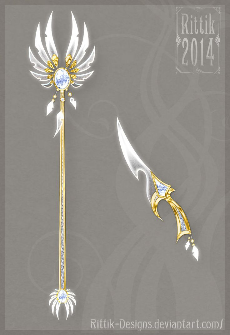 Celestial staff and dagger by Rittik-Designs on deviantART