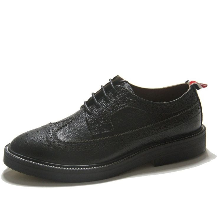 103.99$  Buy now - http://alipth.worldwells.pw/go.php?t=32785974377 - Plus Size Mens Dress Shoes Black Spring Genuine Leather Brogues Shoes For Men Handmade Lace Up Height Increasing Male Shoes Sale 103.99$