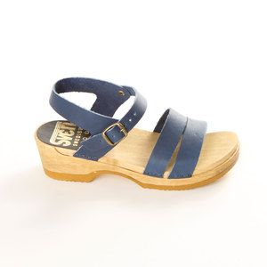 Strap Clog Low Blue