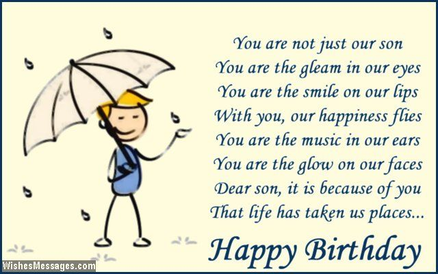 Happy Birthday My Son Poems | Cute birthday card poem for ...