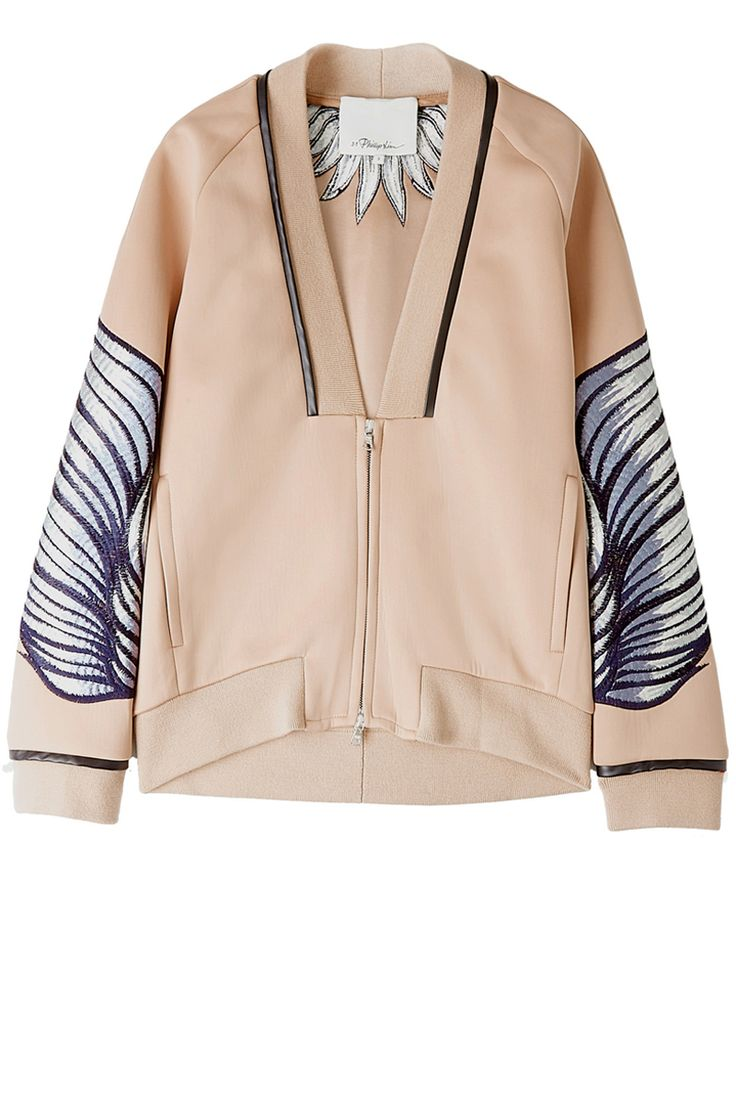 fashion pastel bomber with embroidery #pastel #smartbomber #embrodiery
