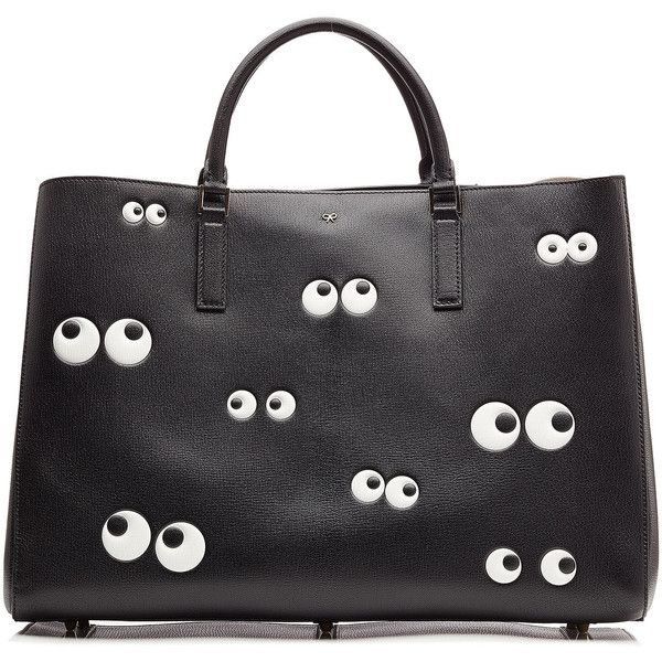 ANYA HINDMARCH Nocturnal Ebury Maxi Leather Tote found on Polyvore
