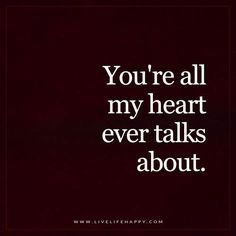 YOU're All My Heart ever talks about