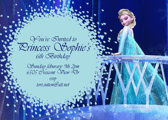 26 best frozen birthday party - invitations images on pinterest, Birthday invitations