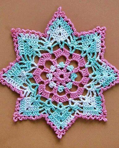 Dainty Little Doilies Pattern Download - Devin Doily Pretty color inspiration