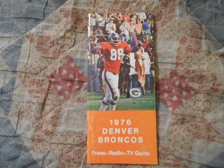 1976 DENVER BRONCOS MEDIA GUIDE Yearbook NFL Football Press Book Program Den AD