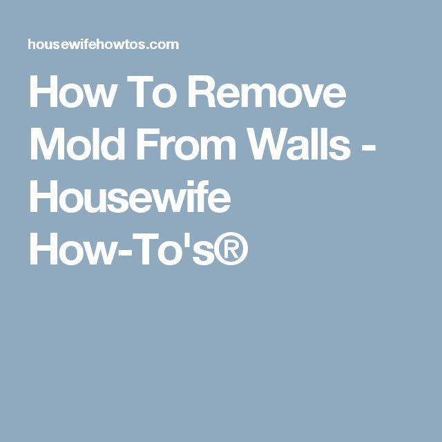 how to clean mold on walls in bedroom