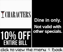 Booking Coupon - Characters Restaurant & Bar, Cape Town