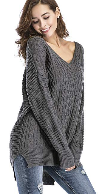 feb00a957 The perfect Yomoko Women Casual V Neck Loose Fit Pullovers Long Sleeve Knit  Top Oversized Sweaters online.   27.99  findanew from top store