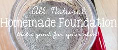 I've been wanting to make the transition to homemade makeup. After one huge homemade mascara disaster, I took a little break from homemade makeup. However, I tried out this awesome foundation recip...