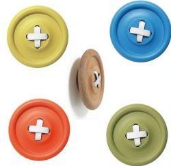 HK living / Dřevěný věšák Button Mixed colours 18 cm