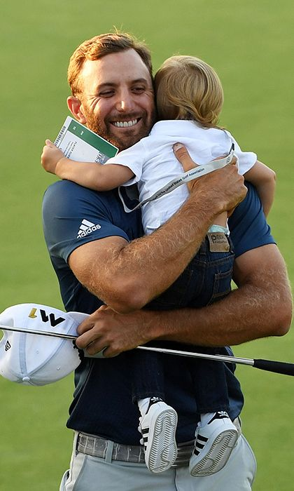 Paulina Gretzky and son Tatum Johnson share sweet moment with Dustin Johnson after US Open win
