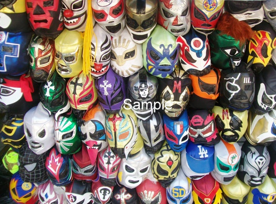 Lucha Libre Professional Wrestling Shop in Tijuana by KingofRamen, $19.99