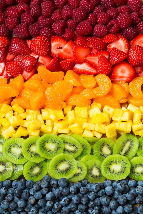Arc-en-ciel de fruit