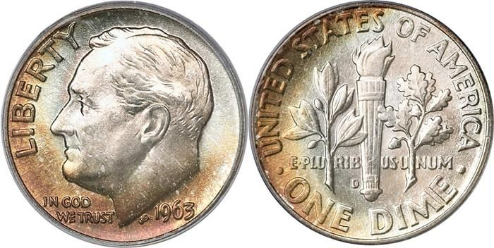 US Roosevelt Silver Dime 1948-1964 US Coin Images Facts Values