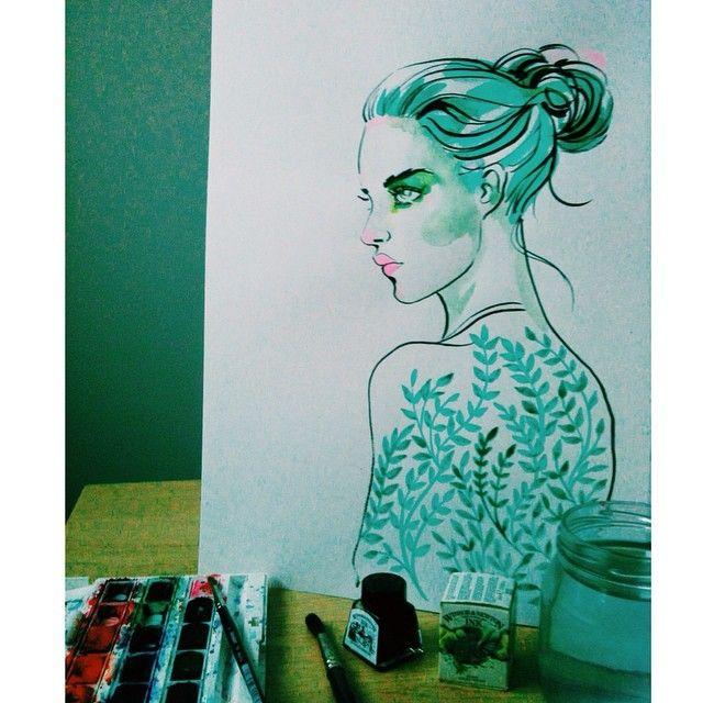 #drawing #drawingoftheday #paintingoftheday #watercolor #ink #instaart #iglobalpics #illustration #artoftheday #artist_4_shoutout_ #moanart #sketch_daily