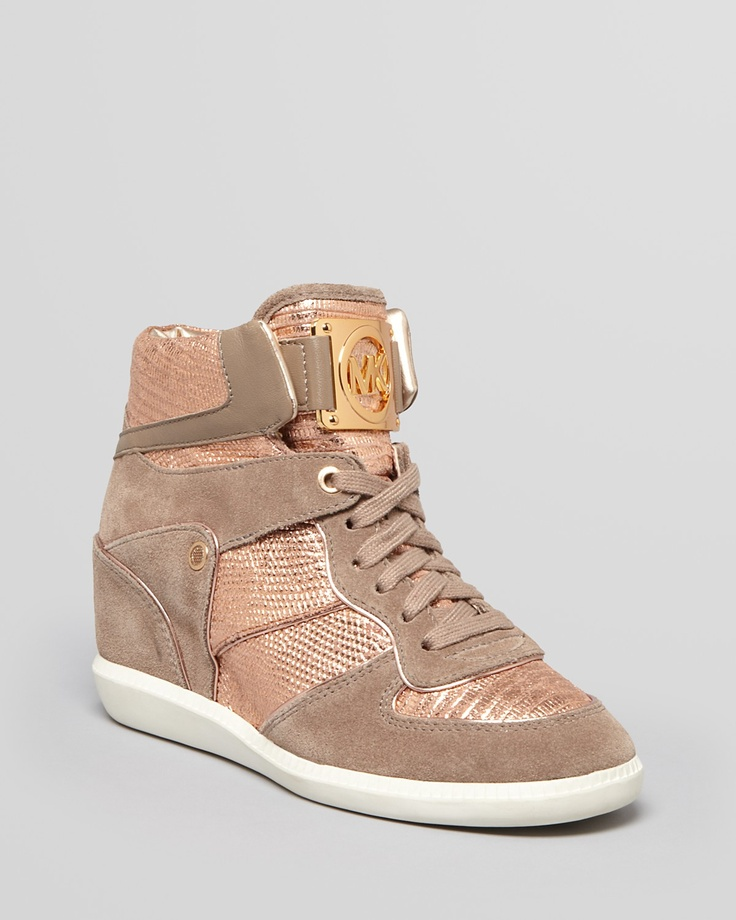 michael kors rose gold sneakers for this summer shoe swag pinterest gold sneakers rose. Black Bedroom Furniture Sets. Home Design Ideas