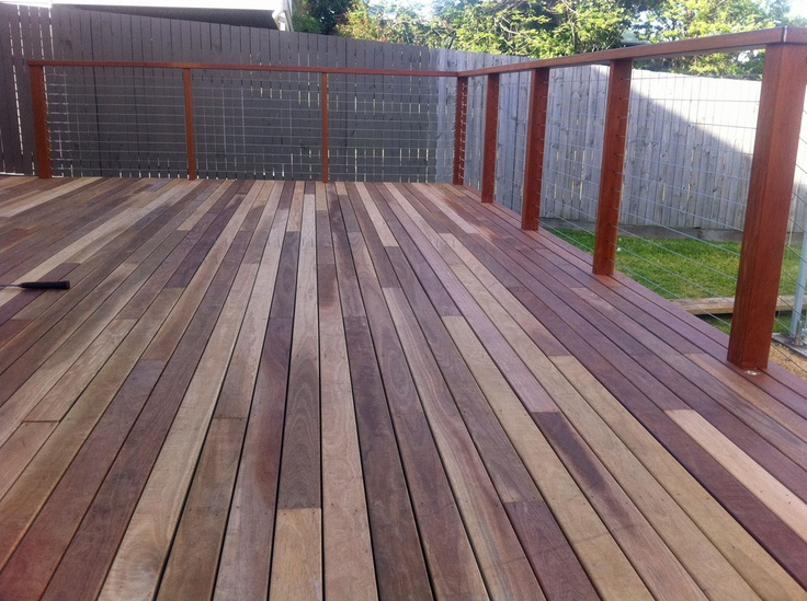 Stainless steel wire with dressed hardwood handrail and posts