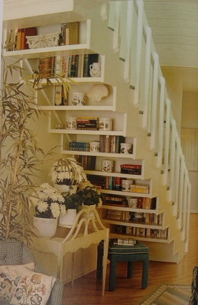 muebles bajo la escalera: Spaces, Bookshelves, Basements Stairs, Stairs Storage, Book Shelves, Under Stairs, House, Great Ideas, Bookca
