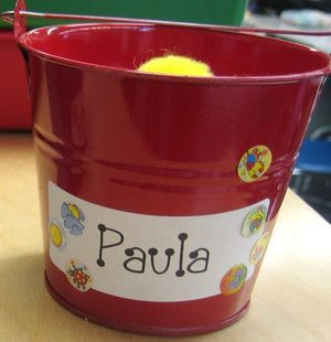 More bucket filling ideas. This teacher allows students to fill their own bucket and the other student's bucket with one pom pom if they say something nice. It is on the honor system, but a reminder that when we fill other buckets we fill our own.