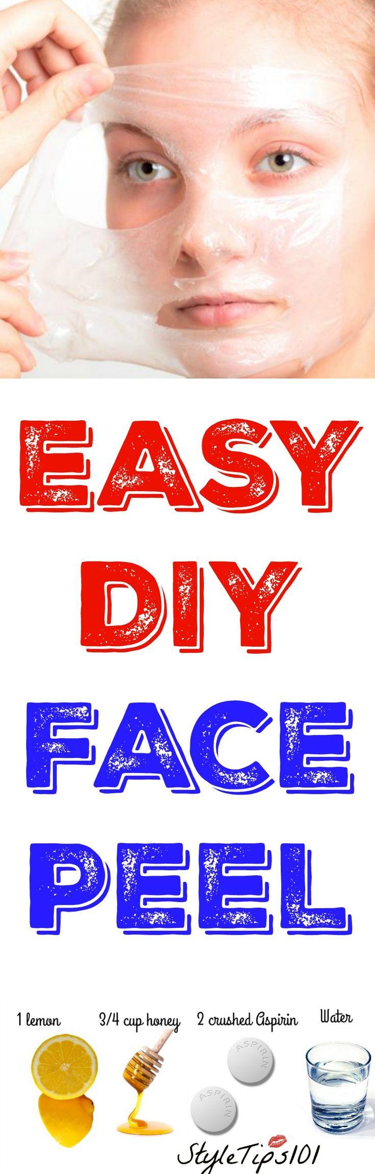 DIY face peel