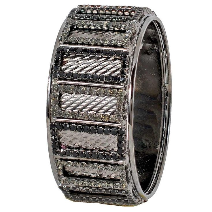 Maayra Plush Grey Black Designer 2.6 #Bracelet http://goo.gl/zurWiQ