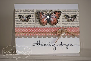 butterfly card by Caro. love the color combo too!: Cards Ideas, Sweet, Butterfly Cards, Cards Gener, Color Combos, Cards Butterflies, Book Pages, Cards Inspiration, Butterflies Cards
