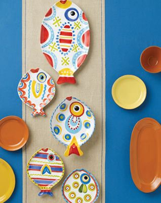 Fish-Fish Dinnerware and Accents Vietri