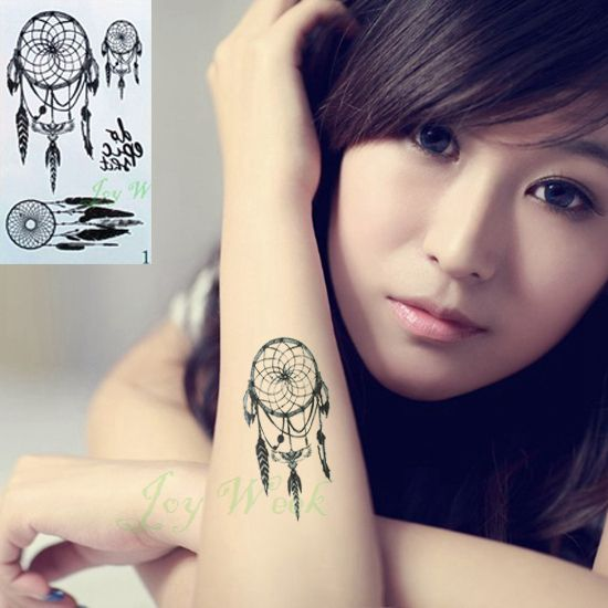 Waterproof Temporary Tattoo sticker on body dreamcatcher dream catcher tattoo Water Transfer fake tattoo flash tattoo for girl