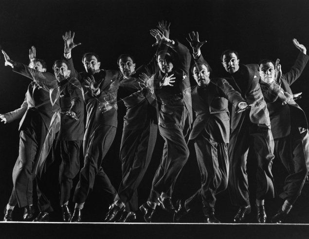 Dancer and actor Gene Kelly in a multiple-exposure dance sequence from the movie Cover Girl, 1944.: Kelly 1944, Gjon Mili, Multiple Exposure, Life Magazine, Dance Legends, Rare Photos, Gene Kelly Dance, Photography, Dance Sequences