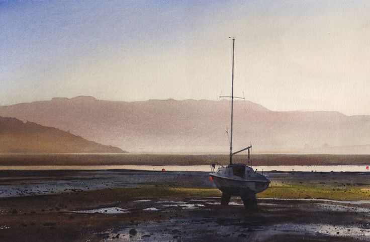 From Borth Y Gest, an original watercolour painting by Rob Piercy