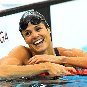 Olympic Silver Medalist in Swimming    Child: Tessa Grace, 5    At 44, Dara Torres has, unintentionally, become the face of Olympic moms. She is the first swimmer from the US to compete in five Olympic games, and has won 12 medals in the process. She's also the first woman to swim in the Olympics after the age of 40. Torres made waves in the Beijing Olympics, when, after giving birth to her daughter Tessa Grace, she won three silver medals.