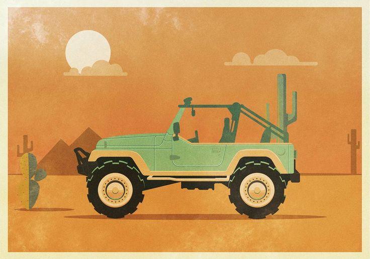 #illustration  #illustrations #illustrator #flat #flatdesign #vector #vectorart #bestvector #thedesigntip #picame #instaart #instagood #graphic #graphicdesign #barcelona #diseñografico #art #artwork #desert #jeep #logoplace #graphicdesignblg