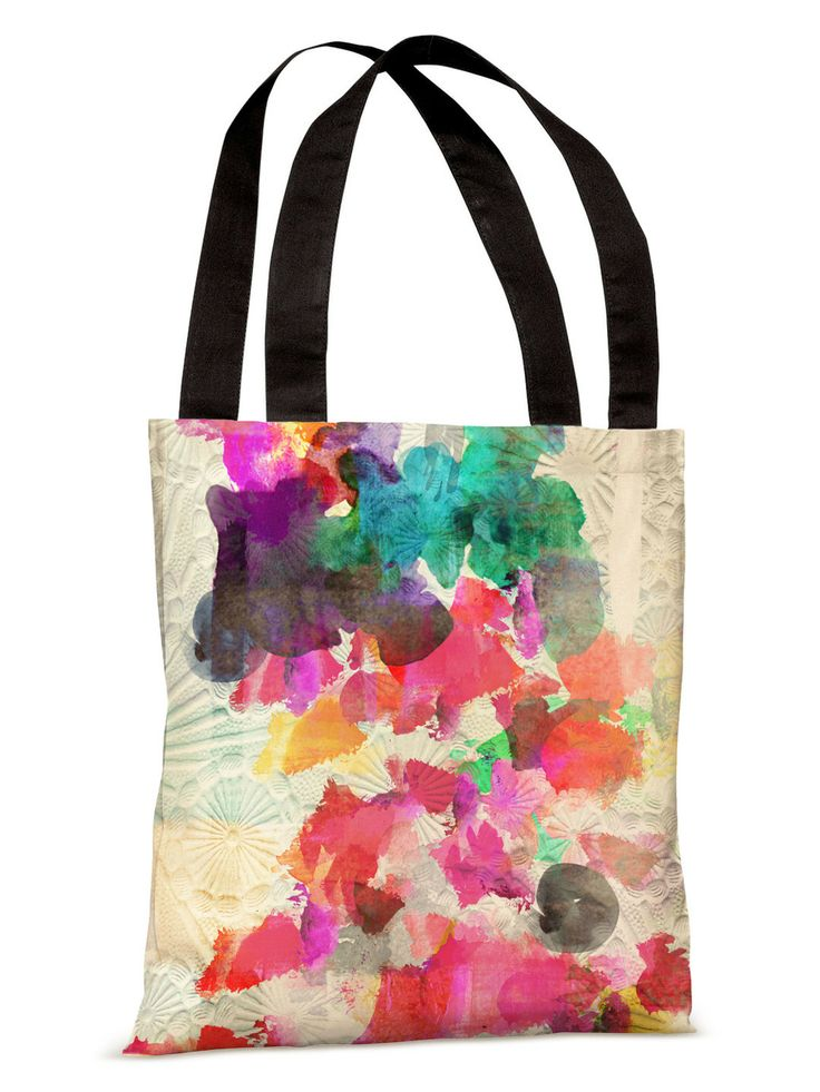 Inside Her Eyes Tote Bag by OneBellaCasa - really loved the print for some reason