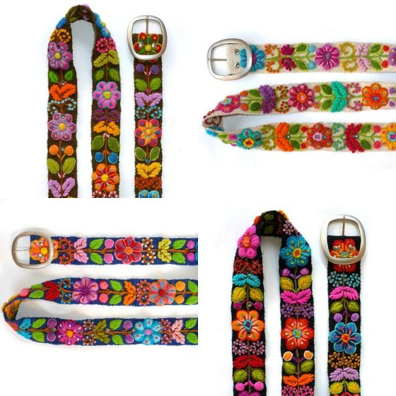 modflowers: Peruvian embroidered belts